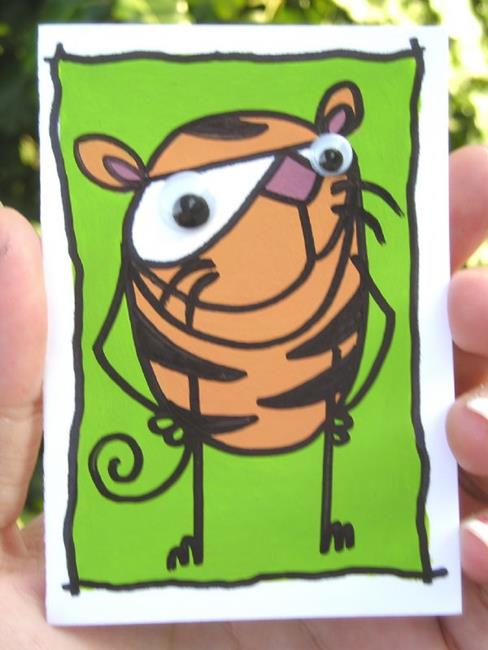 Art: ERBRRR THE TIGER by Artist Veronique Perron