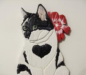 Detail Image for art Black and White Cat