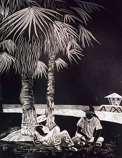 Art: Venice Beach by Artist Naquaiya