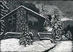 Art: Winter House by Artist Naquaiya