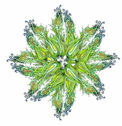 Art: Celery Mandala by Artist Naquaiya
