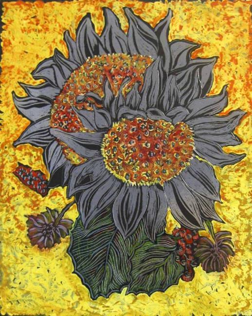 Art: silversunflowers by Artist Naquaiya