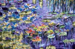 Art: Waterlily Quilt by Artist Naquaiya