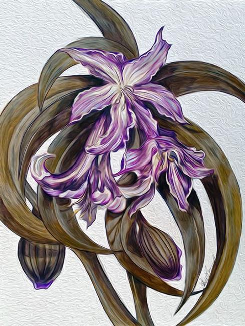 Art: Wild Blue: Amaryllis by Artist Alma Lee