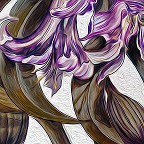 Detail Image for art Wild Blue: Amaryllis