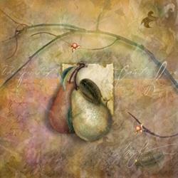 Art: Pears at Last Harvest by Artist Alma Lee