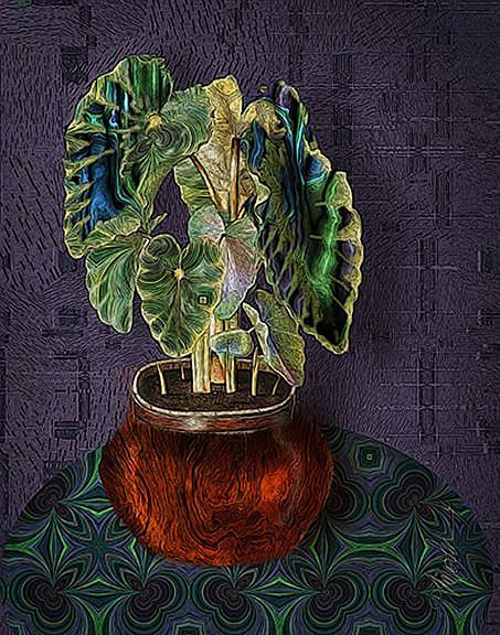 Art: Fractal Plant 2 by Artist Alma Lee