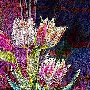 Detail Image for art Tulips Kissing