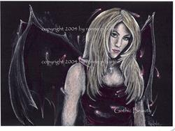 Art: Gothic Beauty in Color by Artist Ronne P Barton