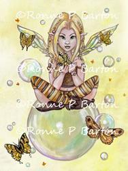 Art: The Gold Fairy.jpg by Artist Ronne P Barton
