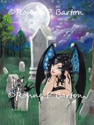 Art: Gothic Midnight.jpg by Artist Ronne P Barton