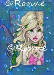 Art: A Little Mermaid by Artist Ronne P Barton