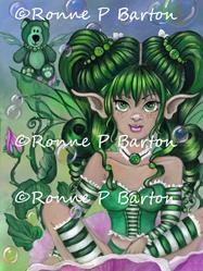 Art: Ode to Green Bear by Artist Ronne P Barton