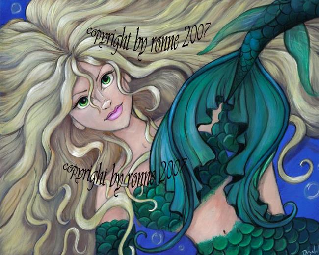 Art: Emerald Mermaid by Artist Ronne P Barton