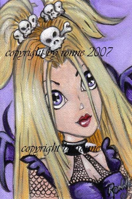 Art: Gothic Lolita OSWOA™ by Artist Ronne P Barton