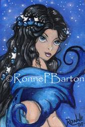 Art: Sapphires and Stars by Artist Ronne P Barton