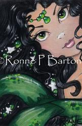 Art: Emeralds and Stars by Artist Ronne P Barton