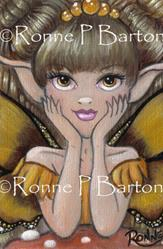 Art: Little Golden Butterfly OSWOA™ by Artist Ronne P Barton