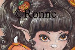 Art: Pumpkin Sprite by Artist Ronne P Barton