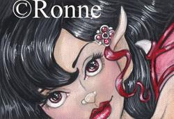 Art: Gothic Red OSWOA™ by Artist Ronne P Barton