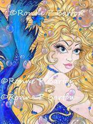 Art: Sapphire Mermaid.jpg by Artist Ronne P Barton
