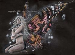 Art: Gothic Butterfly by Artist Ronne P Barton