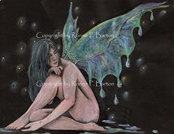 Art: Dewdrops by Artist Ronne P Barton