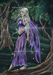Art: The Enchanted Glen by Artist Ronne P Barton