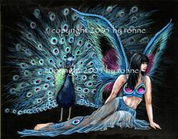 Art: The Peacock Fairy by Artist Ronne P Barton