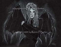 Art: Dark Angel by Artist Ronne P Barton