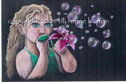 Art: The Magic Bubble Maker by Artist Ronne P Barton