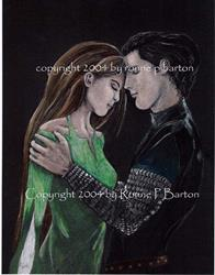 Art: Legends: Sir Lancelot and Lady Guineveire by Artist Ronne P Barton
