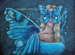 Art: Butterfly Masquerade #1 by Artist Ronne P Barton