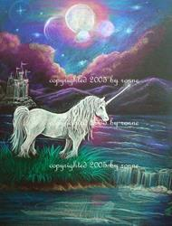 Art: Unicorn Twilight by Artist Ronne P Barton