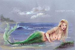 Art: Mermaid Ashore by Artist Ronne P Barton