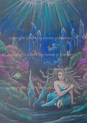 Art: The Mermaid by Artist Ronne P Barton