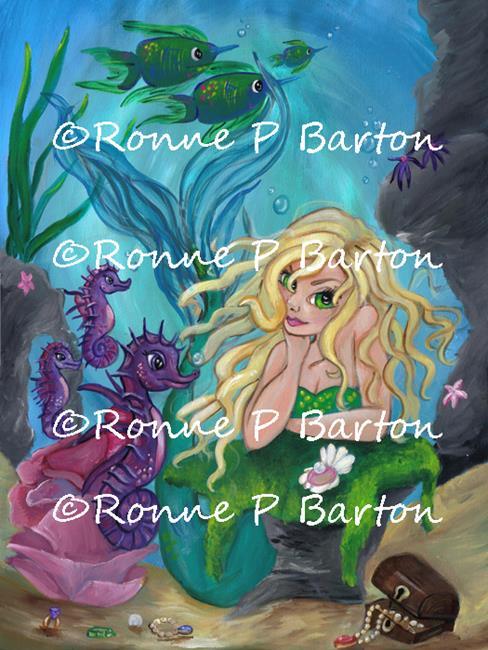 Art: Underwater Treasures.jpg by Artist Ronne P Barton