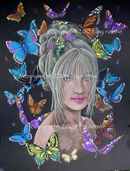 Art: Queen of the Butterflies II by Artist Ronne P Barton