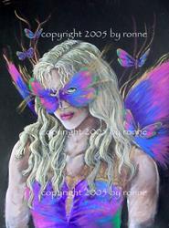 Art: Butterfly Masquerade #2 by Artist Ronne P Barton