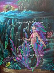 Art: Mermaid's Haven by Artist Ronne P Barton