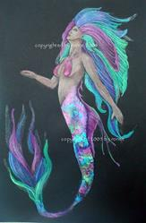 Art: The Mermaid II by Artist Ronne P Barton