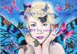 Art: Queen of the Butterflies by Artist Ronne P Barton