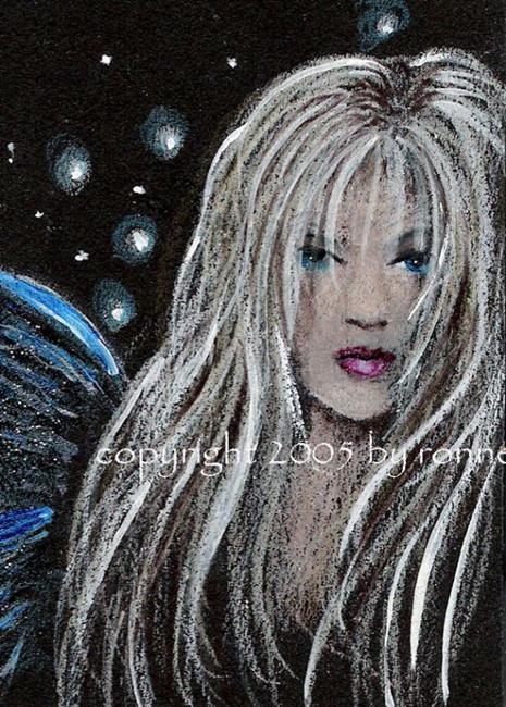 Art: Blue Wing by Artist Ronne P Barton