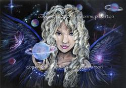Art: Celestial Angel by Artist Ronne P Barton