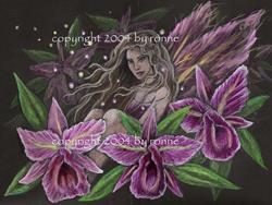 Art: Orchid Breeze by Artist Ronne P Barton