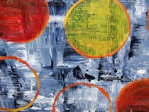 Detail Image for art Circular Logic (Textured Triptych)