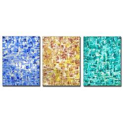 Art: Scintillating Sapphire, Citrine & Emeralds  by Artist Diane G. Casey