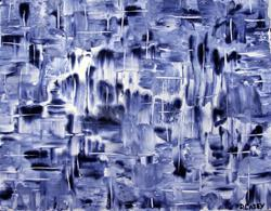 Art: Blue Ice  by Artist Diane G. Casey