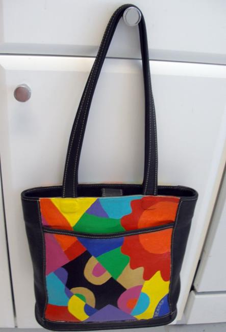 Art: Brighter Days Ahead (Painted Coach Purse) by Artist Diane G. Casey