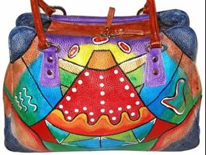 Detail Image for art Funkier Than Thou (Leather Satchel Handbag)